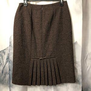 Liz Claiborne Suits Brown pencil skirt